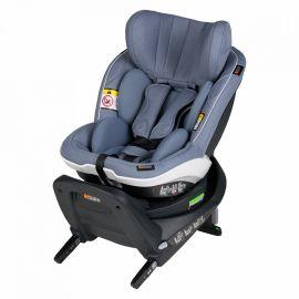 Scaun auto iZi Twist i-Size - Cloud  Mélange - BeSafe, Culoare: Albastru, Grupa: 0-18kg (0 luni - 4 ani)