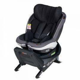Scaun auto iZi Twist i-Size - Midnight Black Mélange - BeSafe, Culoare: Gri/Negru, Grupa: 0-18kg (0 luni - 4 ani)