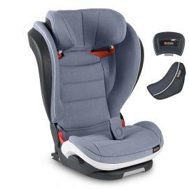 Scaun auto iZi Flex Fix i-Size - Cloud Mélange - BeSafe, Culoare: Albastru, Grupa: 15-36kg (4 ani - 12 ani)