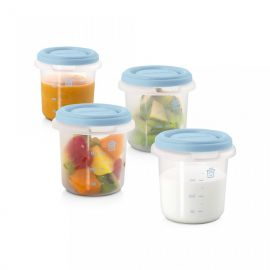 Set 4 Recipiente Plastic 250 ml Azure Miniland Baby