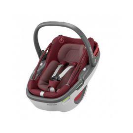 Pachet Cos auto I-Size Maxi Cosi Coral+baza Familyfix3 Essential Red, Culoare: Rosu, Grupa: 0-13kg (0 luni - 12 luni)