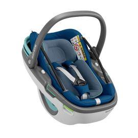 Pachet Cos auto I-Size Maxi Cosi Coral+baza Familyfix3 Essential Blue, Culoare: Blue, Grupa: 0-13kg (0 luni - 12 luni)