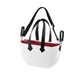 Geanta pentru mamici Nuvita Mymia - Ice Bordeux Black + curea pentru geanta, Culoare: Alb/Negru