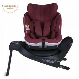 Scaun auto iZi Twist i-Size - Burgundy Mélange - BeSafe, Culoare: Visiniu, Grupa: 0-18kg (0 luni - 4 ani), poza