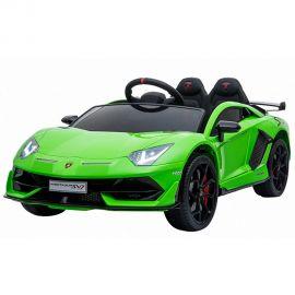 Masinuta electrica Chipolino Lamborghini Aventador SVJ green cu roti EVA, Culoare: Verde, poza