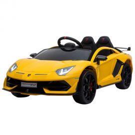 Masinuta electrica Chipolino Lamborghini Aventador SVJ yellow cu roti EVA, Culoare: Galben, poza