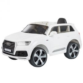 Masinuta electrica Chipolino SUV Audi Q7 White cu roti EVA, Culoare: Alb, poza