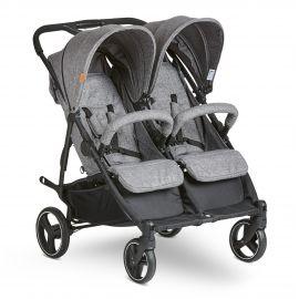 Carucior pentru gemeni Twin woven-grey Abc Design 2021, poza