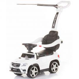 Masinuta de impins cu copertina Chipolino Mercedes Benz GL63 AMG white, Culoare: Alb