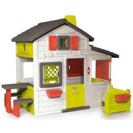 Casuta pentru copii Smoby Friends Playhouse cu gradina, poza