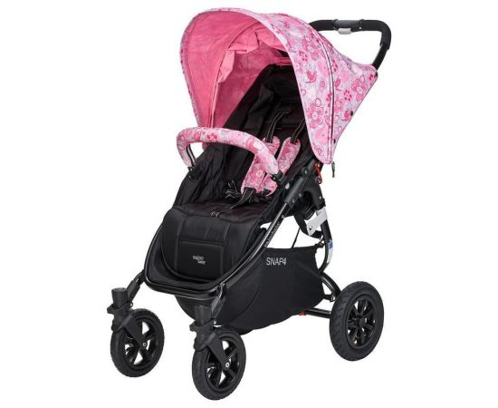 Carucior sport cu roti gonflabile SNAP 4 CZ Edition White and Pink Flowers - Valco Baby, poza