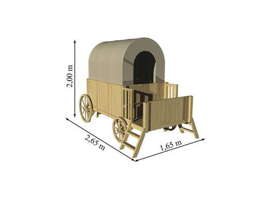 Trasura-Casuta din lemn JESSY - EGT-Soulet,poza 3
