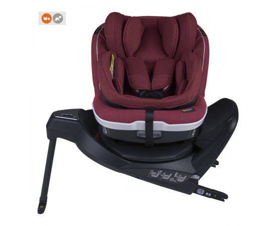 Scaun auto BeSafe iZi Twist B i-Size (0-4 ani) Burgundy Mélange, Culoare: Visiniu, Grupa: 0-18kg (0 luni - 4 ani)