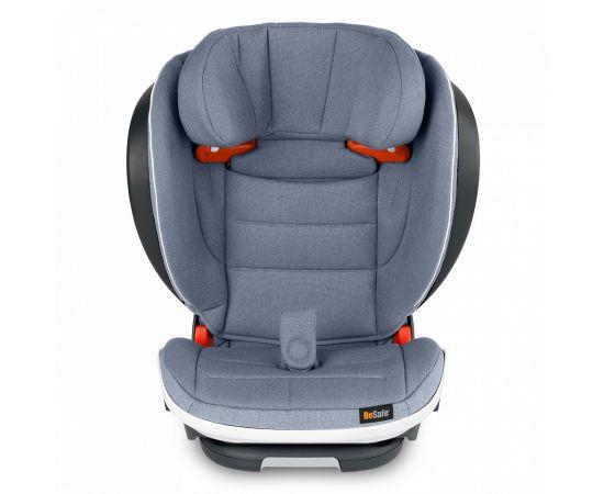 Scaun auto BeSafe iZi Flex Fix i-Size Cloud Mélange, Culoare: Albastru, Grupa: 15-36kg (4 ani - 12 ani),poza 2