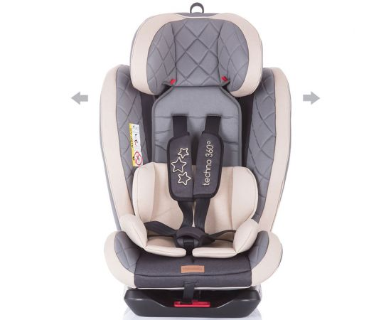 Scaun auto Isofix Chipolino Techno 0-36 kg mocca, Culoare: Crem, Grupa: 0-36kg (0 luni - 12 ani),poza 3