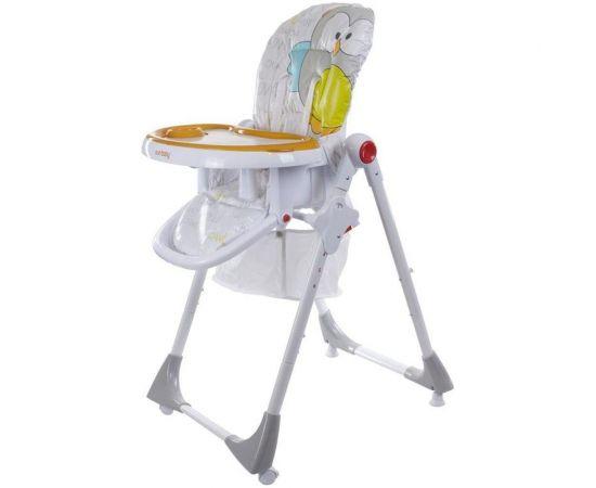 Scaun de masa Comfort Lux Gri/Portocaliu - Sun Baby