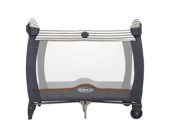 Patut Contour Electra Breton Stripe Graco, Culoare: Gri/Negru, Dimensiuni: 95x65,poza 2