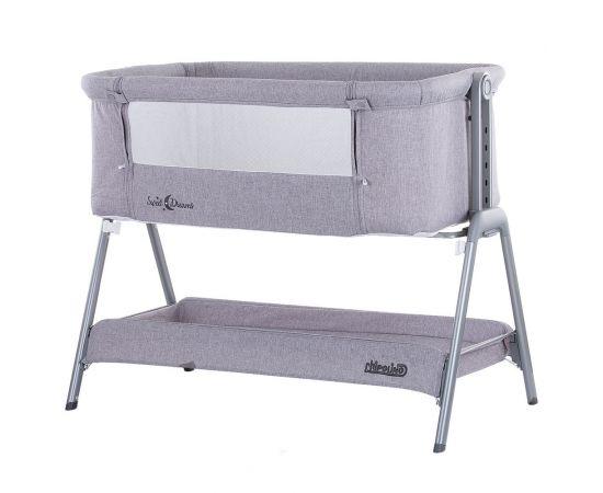 Patut Co-Sleeper Chipolino Sweet Dreams grey, Culoare: Gri, poza