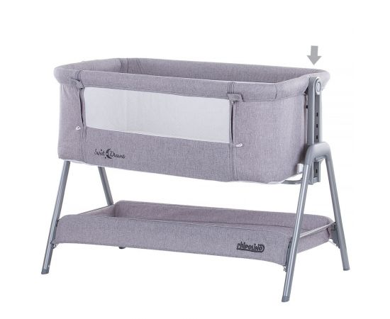 Patut Co-Sleeper Chipolino Sweet Dreams grey, Culoare: Gri, poza _ab__is.image_number.default