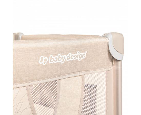 Patut Pliabil cu 2 nivele Baby Design Dream 09 Beige 2020, Culoare: Crem,poza 2