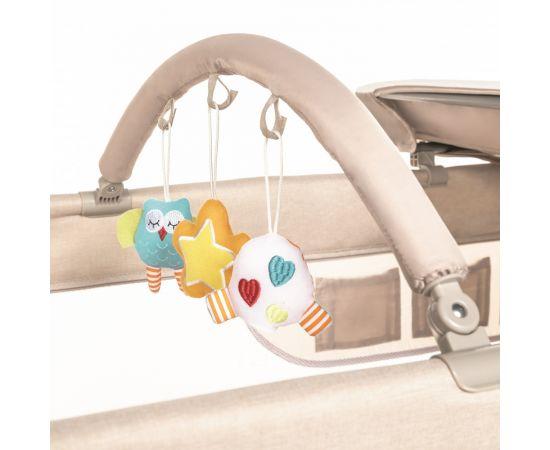 Patut Pliabil cu 2 nivele Baby Design Dream 09 Beige 2020, Culoare: Crem,poza 3