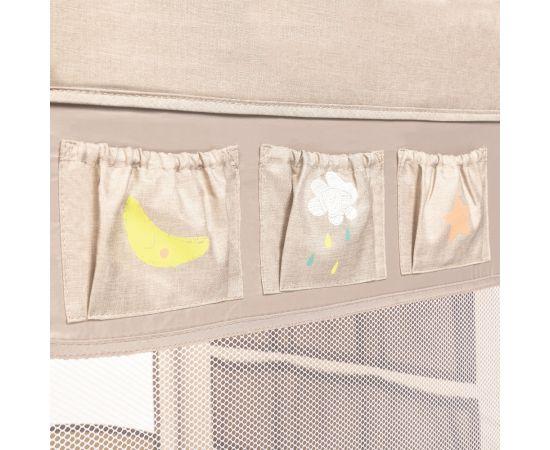 Patut Pliabil cu 2 nivele Baby Design Dream 09 Beige 2020, Culoare: Crem,poza 5