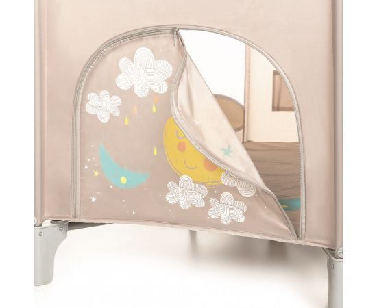 Patut Pliabil cu 2 nivele Baby Design Dream 09 Beige 2020, Culoare: Crem,poza 6