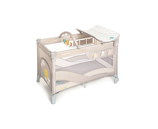 Patut Pliabil cu 2 nivele Baby Design Dream 09 Beige 2020, Culoare: Crem, poza