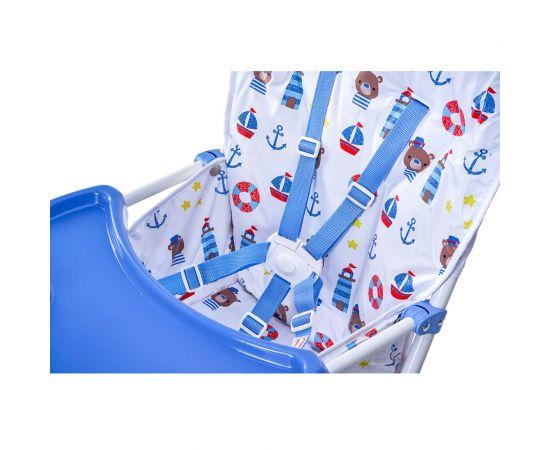 Scaun de masa Bimba Kidscare, Albastru, Culoare: Albastru,poza 5