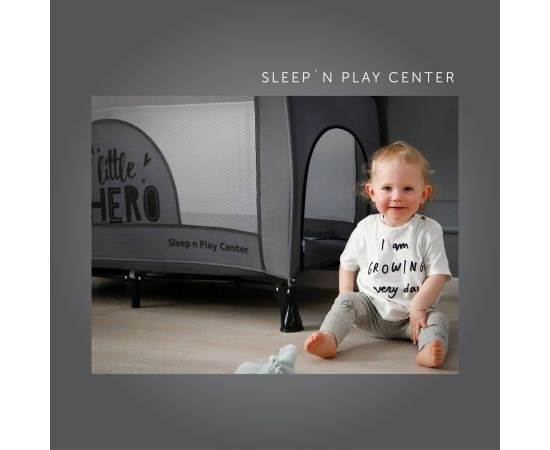 Pat Pliabil Bebe Sleep'n Play Center Little Hero Hauck,poza 3