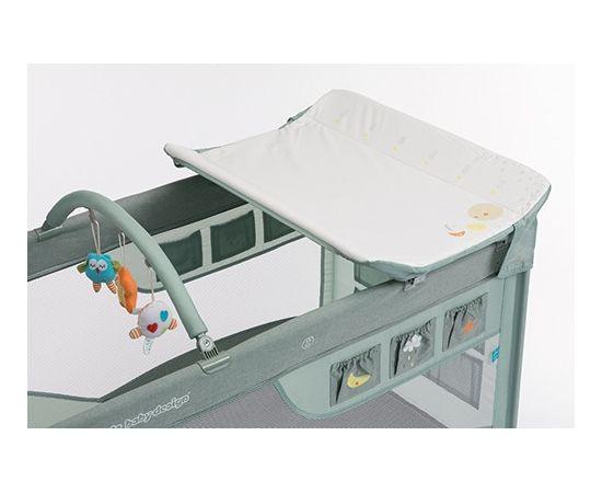 Patut Pliabil cu 2 nivele Baby Design Dream 04 Green 2019, Culoare: Verde,poza 5