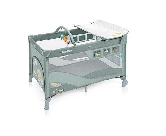 Patut Pliabil cu 2 nivele Baby Design Dream 04 Green 2019, Culoare: Verde