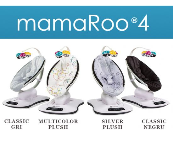 Fotoliu Balansoar Bebelusi 4MOMS MamaRoo 4.0 Cool Mesh Dark-Grey, Culoare: Gri,poza 7