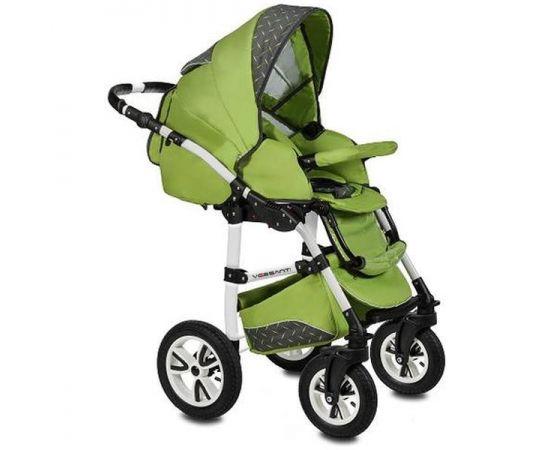 Carucior 3 in 1 Flamingo Easy Drive Green Vessanti, Culoare: Verde,poza 3