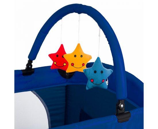 Patut pliant 2 niveluri Juju Sleepy Baby, Space Adventure, Culoare: Albastru,poza 5