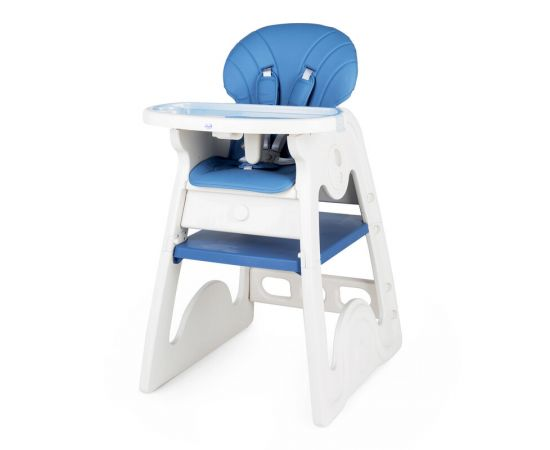 Scaun de masa transformabil Juju Eat&Play V2, Albastru, Culoare: Albastru