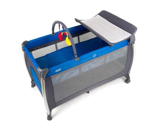 Patut pliant aluminiu 2 niveluri Juju Sweet Naps, Albastru-Gri, Culoare: Albastru