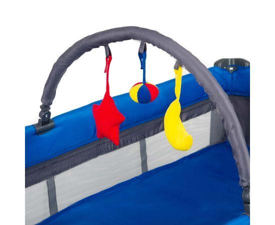Patut pliant aluminiu 2 niveluri Juju Sweet Naps, Albastru-Gri, Culoare: Albastru,poza 4