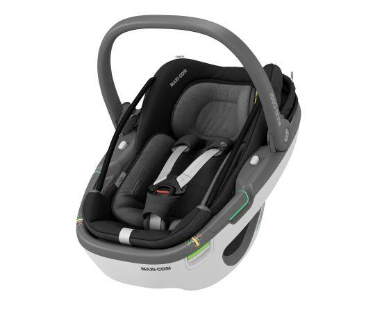 Cos Auto I-Size Coral 360 + Baza FamilyFix 360 Maxi-Cosi Essential Black, Culoare: Negru, Grupa: 0-13kg (0 luni - 12 luni),poza 2