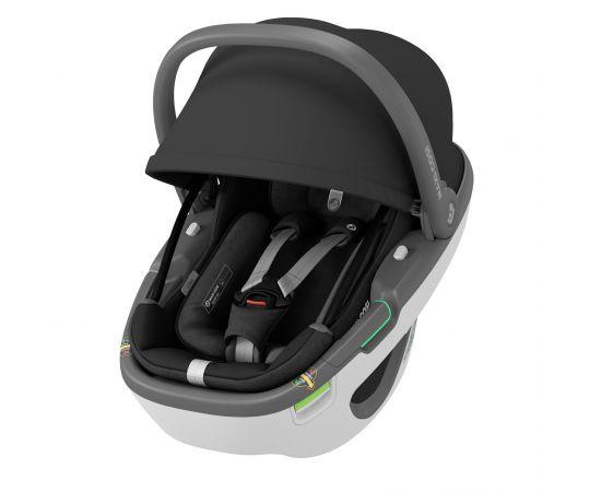 Cos Auto I-Size Coral 360 + Baza FamilyFix 360 Maxi-Cosi Essential Black, Culoare: Negru, Grupa: 0-13kg (0 luni - 12 luni),poza 3
