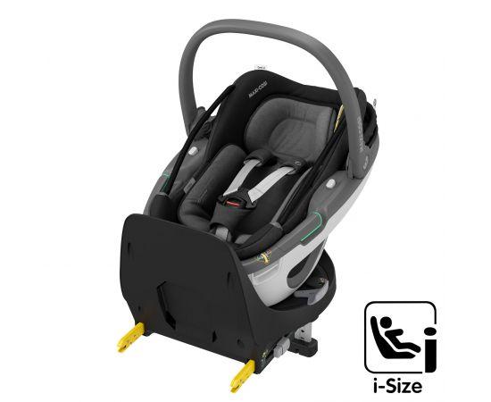 Cos Auto I-Size Coral 360 + Baza FamilyFix 360 Maxi-Cosi Essential Black, Culoare: Negru, Grupa: 0-13kg (0 luni - 12 luni)