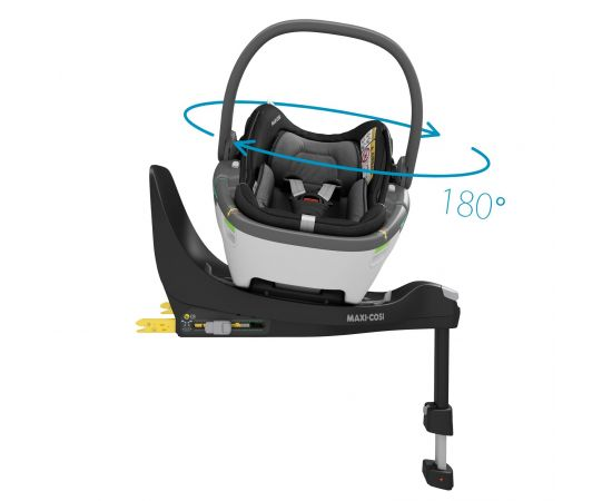 Cos Auto I-Size Coral 360 + Baza FamilyFix 360 Maxi-Cosi Essential Black, Culoare: Negru, Grupa: 0-13kg (0 luni - 12 luni),poza 5