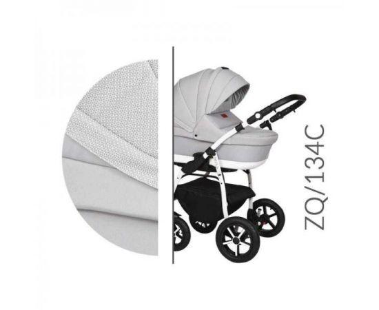 Carucior 3 in 1 Baby Merc Zippy Q - ZQ134C - Cadru Alb, Culoare: Gri deschis