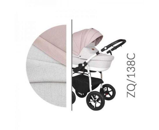 Carucior 3 in 1 Baby Merc Zippy Q - ZQ138C - Cadru Alb, Culoare: Roz