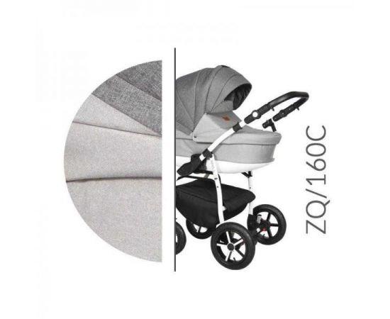 Carucior 3 in 1 Baby Merc Zippy Q - ZQ160C - Cadru Alb, Culoare: Gri