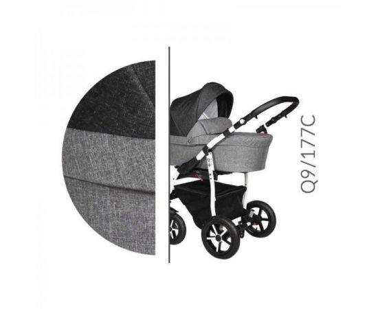 Carucior 3 in 1 Baby Merc Q9 - 177C - Cadru Alb, Culoare: Gri