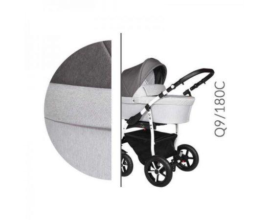 Carucior 3 in 1 Baby Merc Q9 - 180C - Cadru Alb, Culoare: Gri deschis