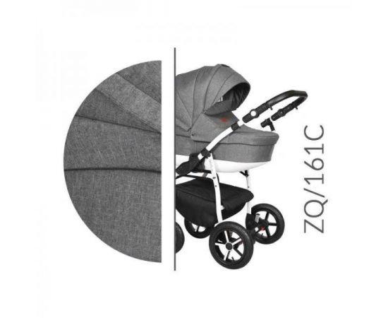 Carucior 3 in 1 Baby Merc Zippy Q - ZQ161C - Cadru Alb, Culoare: Alb/Gri