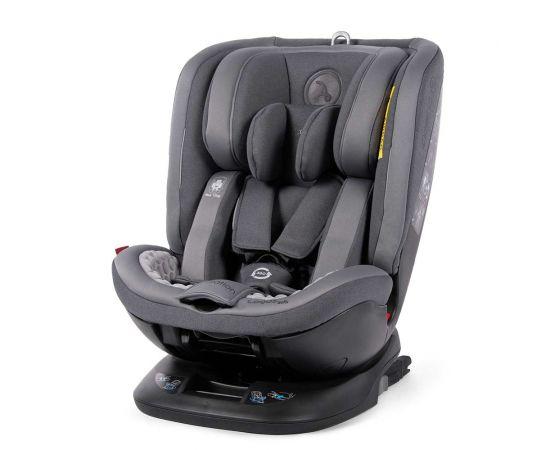 Scaun auto rotativ Rear Facing cu Isofix si Top Tether Logos gri inchis 0-36 kg Coletto, Culoare: Gri, Grupa: 0-36kg (0 luni - 12 ani)