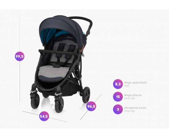 Carucior sport Smart 07 Light Gray 2019 - Baby Design, poza _ab__is.image_number.default